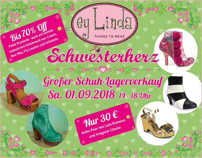 Neues von Lien en Giel / Schuhlagerverkauf am 1.9.18