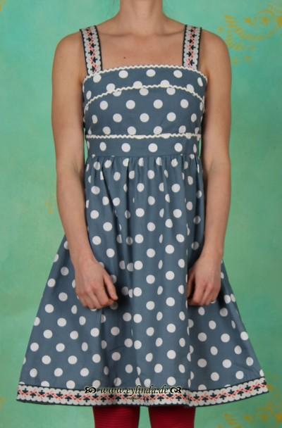 Kleid, bandroba, aegean polka