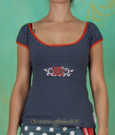 Shirt, puftikuss top, majolica minidots