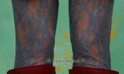 Leggins, flamenco legs, aegean lace