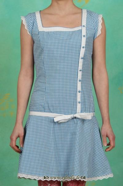 Kleid, tennis matrosendress, himmelschlüssel vichy