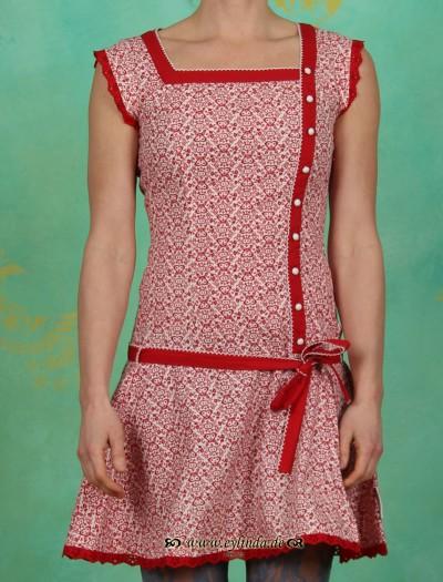 Kleid, tennis matrosendress, rotweiß liebherzel