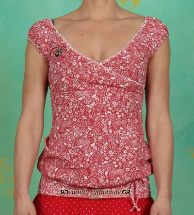 Top, directoire top, red flora