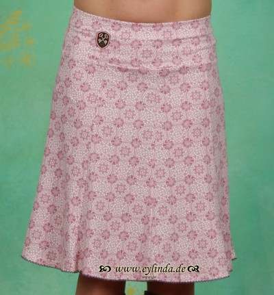 Rock, godet skirt, summer lace