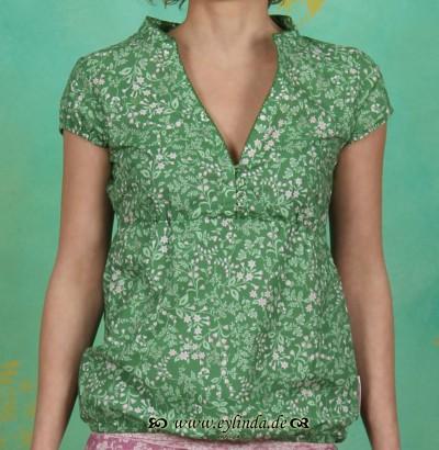 Shirt, seifenrein blusette, jade garden