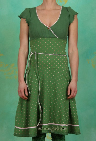 Kleid, wicked envelope, garden dots