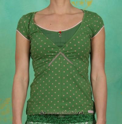 Shirt, monfichu shirt, garden dots