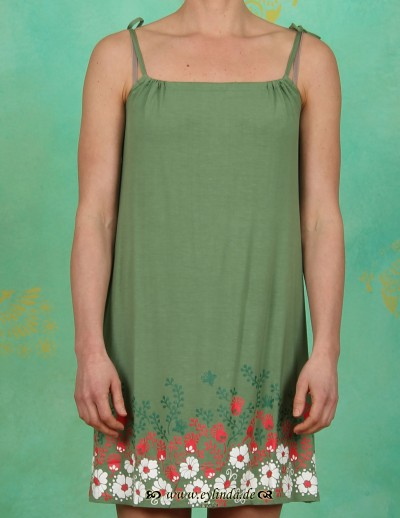 Kleid, feinschleif tunique, meadow green
