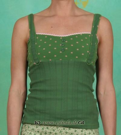 Top, corsetterie top, garden dots