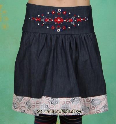 Rock, Polkanight Skirt, blue denim