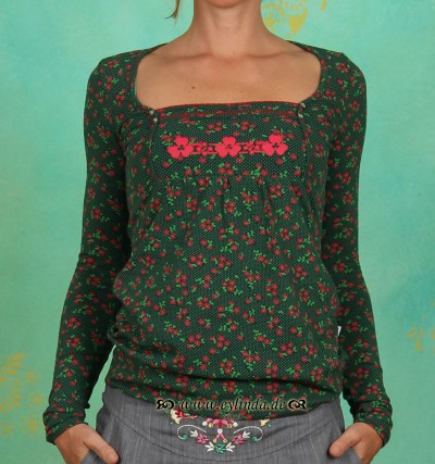 Shirt, Petruschka Quadrat, polka flower