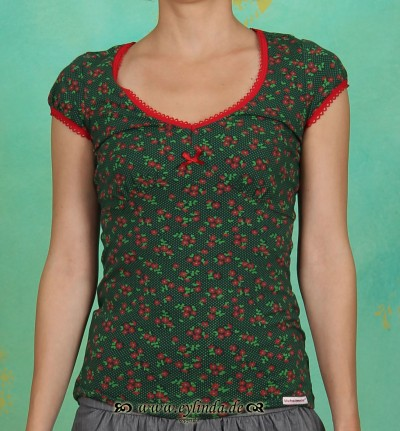 Shirt, V von Welt, polka flower
