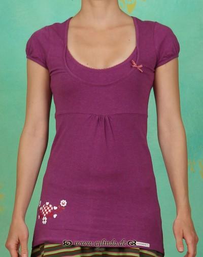 Top, Double Cut, purple melange