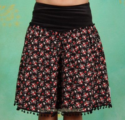 Rock, Glamourama Skirt, antique-flowers