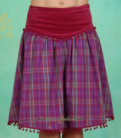 Rock, Glamourama Skirt, peachick-checkers