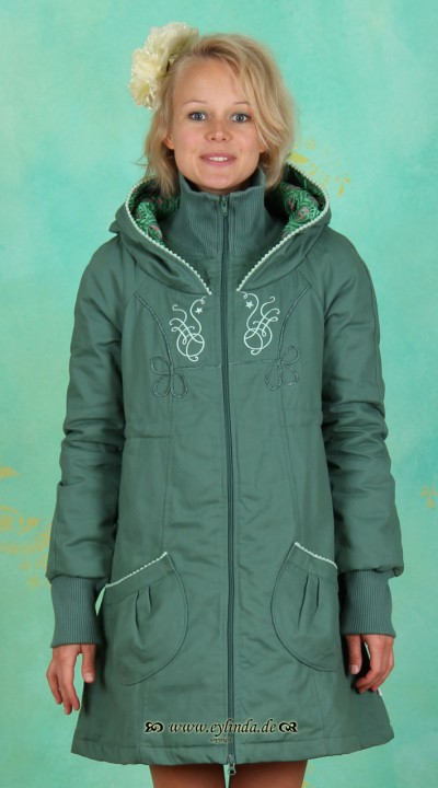 Parka, Russ Ballett Parka, green-allure-twill