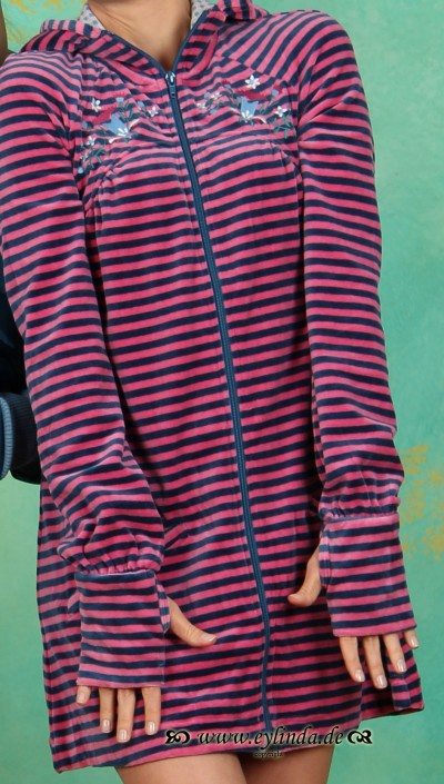 Zipper, Slideride Longzip, cottage-stripes
