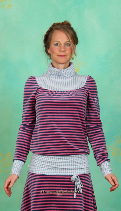 Longshirt, Willhelmine Turtell, cottage-stripes