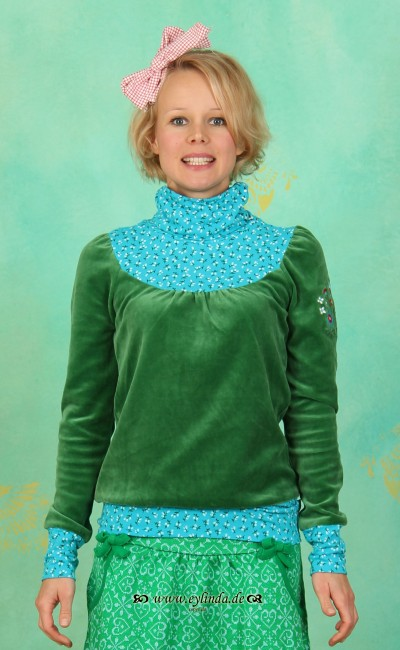 Longshirt, Willhelmine Turtell, velvet-green