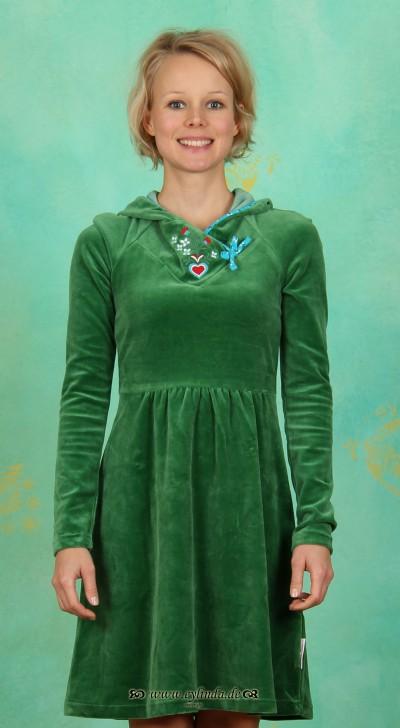 Kleid, Schmuse Operator Dress, velvet-green