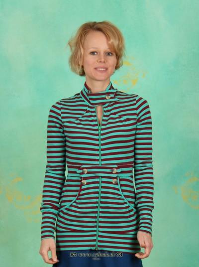Zipper, Generalesque Zip, mintwine-stripes