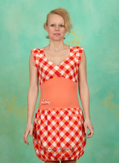 Kleid, Heurigen Balloon, tipsy-vichy