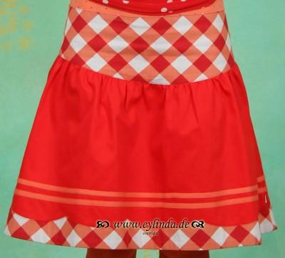 Rock, Fein Fräulein Skirt, dolcevita-red-twill