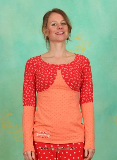 Shirt, Biedermeier Shirt, sprinkled-apricot