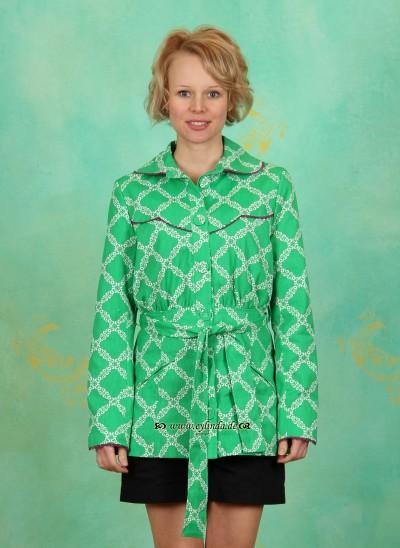 Jacke, Stadtfein Jackerl, mitzis-spring-pattern