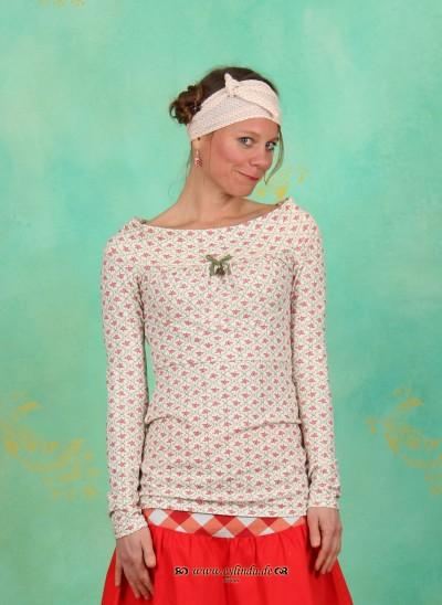 Shirt, Körberl voll Glück, floral-tiles