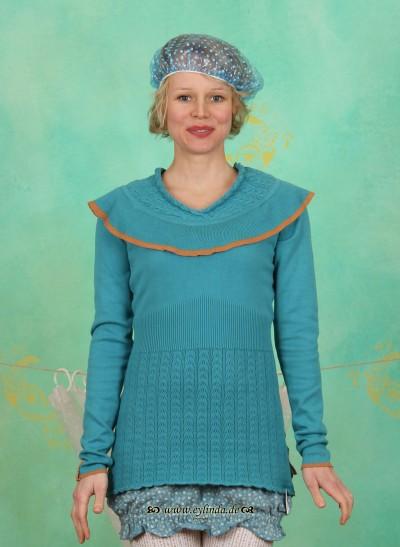 Pullover, Maschenmitzi's, nostalgic-blue-knit