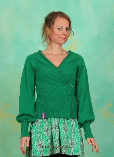 Cardigan, Strickliesls Cardigan, mitzis-spring-green-knit