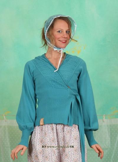 Cardigan, Strickliesls Cardigan, nostalgic-blue-knit