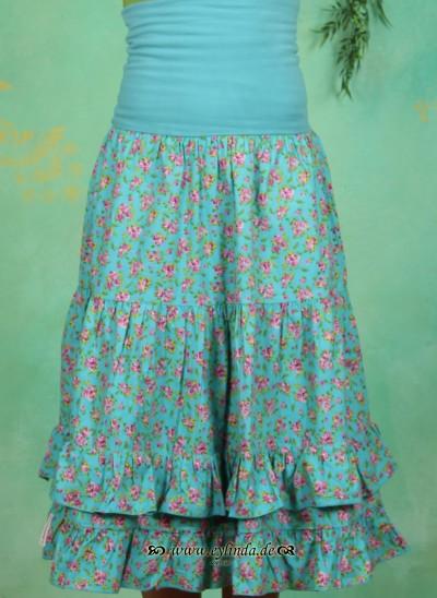 Rock, Romantic Botanic Skirt, heavenly-flowerbed