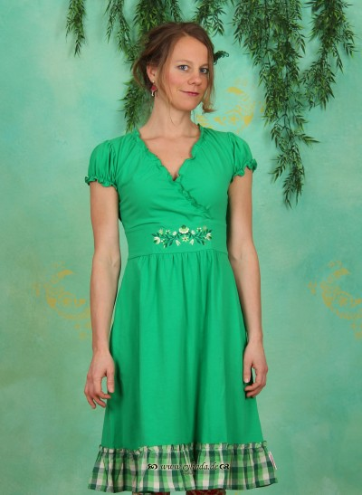 Kleid, Wildwuchs Cache Dress, jungle-green
