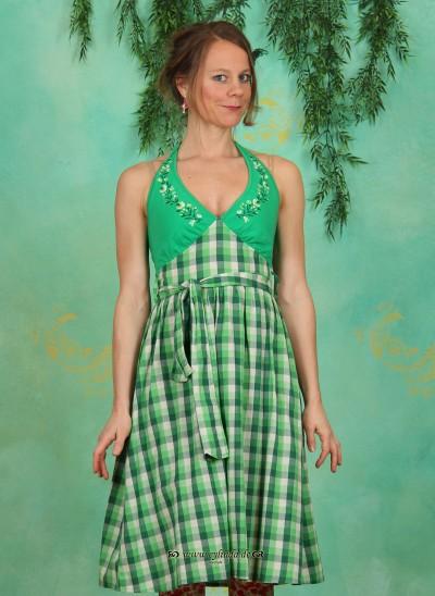 Kleid, Jungle Lolita Robe, evergreen-checks