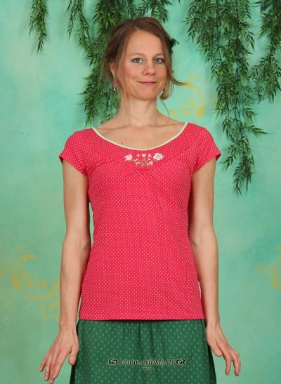 Shirt, Tea Tree Tee, daisy-dots