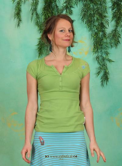 Shirt, Kongo Knöpfchen, paradise-green