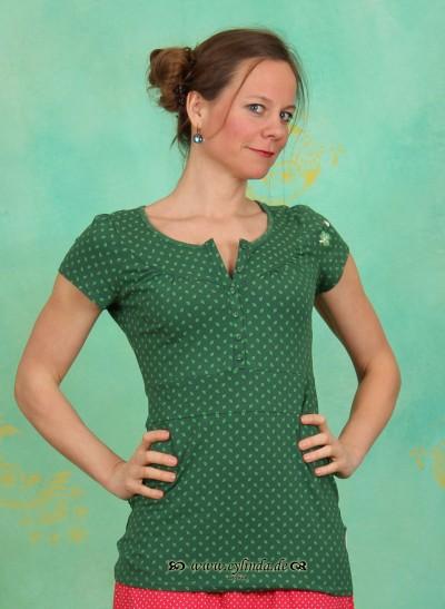 Shirt, Kongo Knöpfchen, verdant-leaves