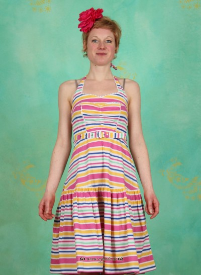 Kleid, Dolles Rock'n'Roll Dress, candy-stripes
