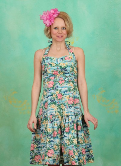 Kleid, Dolles Rock'n'Roll Dress, hawaiian-dream