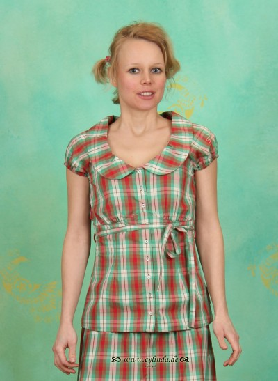 Bluse, Romance Blousie, college-checkers