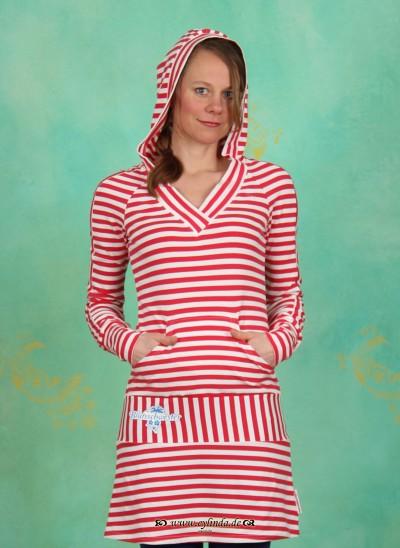 Hoody, Cheerleaders Longhoody, sailor-stripes