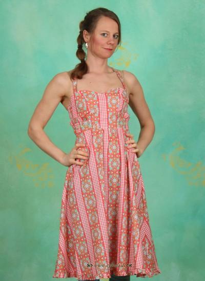 Kleid, Club Mate Dress, capri-bordure