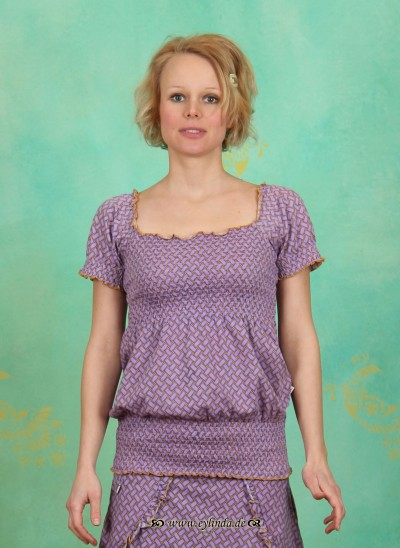 Shirt, Smocky Caré, noble-plaiting