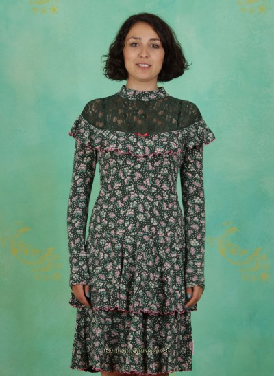 Kleid, Vreneli Volanterie Dress, berry-valley-fleurs