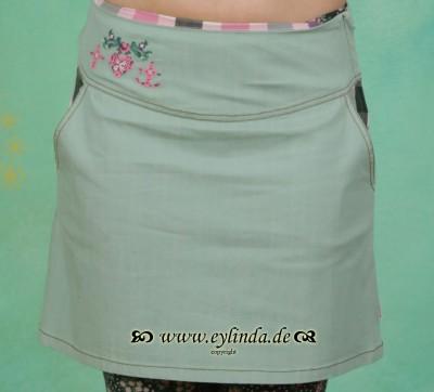 Rock, Denim Deer Skirt, antique-green-jeans