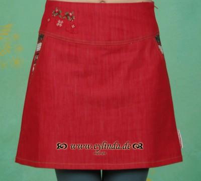 Rock, Denim Deer Skirt, bollenhut-red-jeans