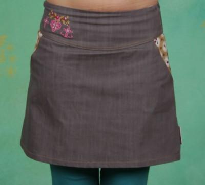 Rock, Denim Deer Skirt, deep-grey-jeans