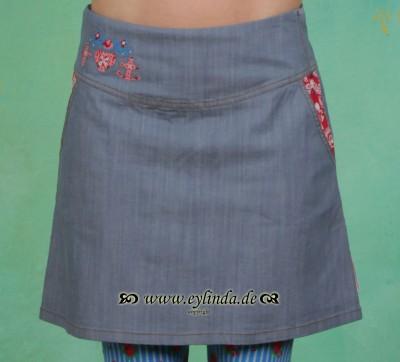Rock, Denim Deer Skirt, majolika-blue-jeans
